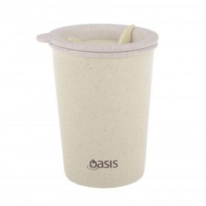 Oasis Reusable Double Wall Eco Tea Coffee Cup - Natural
