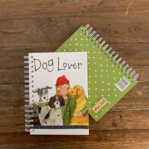 Dog Lover Hard Cover Spiral Notebook Journal By Alex Clark