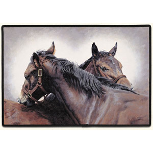 doormat-horses-brown
