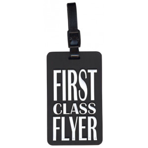 First Class Flyer Suitcase Bag Luggage Tag