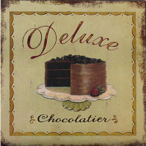 Deluxe Chocolatier Chocolate Cake Rustic Tin Sign