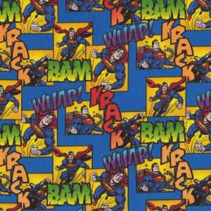 Superman Whap Bam Quilt Fabric