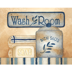 Wash Room Soap Bath Salts 8 x 10 Print
