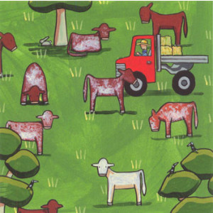 Red White & Roan Shorthorn Cows Rachael Flynn Card