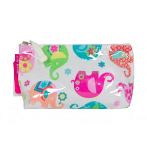Cosmetic Beauty Makeup Storage Toiletry Travel Bag Elephant Romp Small