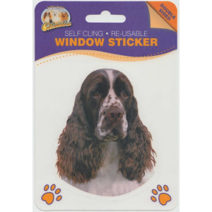 English Springer Spaniel Dog Self Cling Re-usable Window Sticker