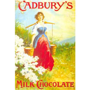 Cadburys Milk Chocolate Maid Nostalgic Postcard