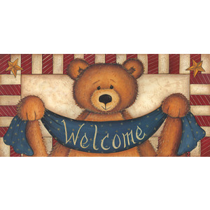 Welcome Teddy Bear 10 x 20 Print