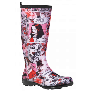 Funky Comic Kamik Betty Gumboots Wellies Rainboots