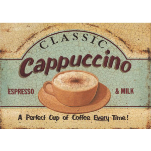 Classic Cappuccino Greeting Card by Martin Wiscombe