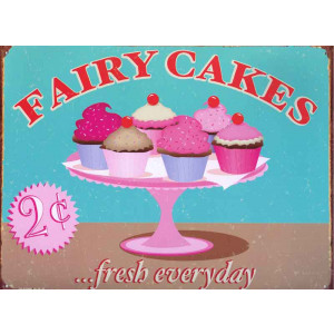 Fairy Cakes 2c... Fresh Everyday Nostalgic Retro Reproduction Tin Sign