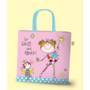 Fairy Girls Pink Mini PVC Tote Bag