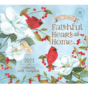Faithful Heart & Home Nancy E Mink 2021 Legacy Wall Calendar With Scripture