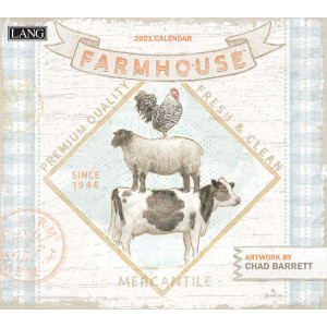 Farmhouse by Chad Barret 2021 Lang Wall Calendar