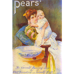 Pears Soap Lady & Baby Nostalgic Postcard