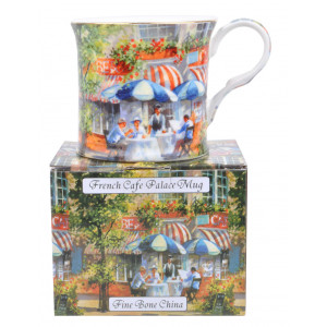 French Cafe Fine Bone China Palace Tea Coffee Mug