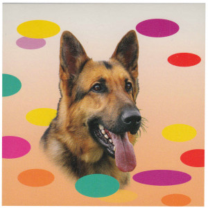German Shepherd Dog Magnetic Notepad
