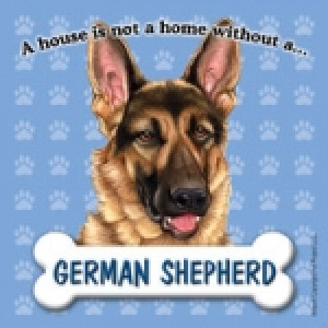 German Shepherd Fridge Magnet