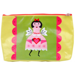Girl With Love Heart Toiletry Cosmetic PVC Bag
