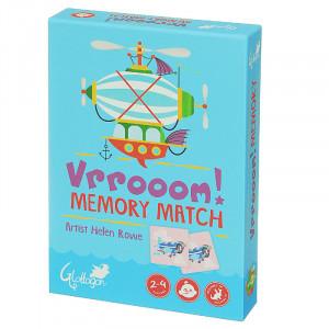 Vrrooom Cars Scooter Bike Memory Match Kids 2 Games in 1