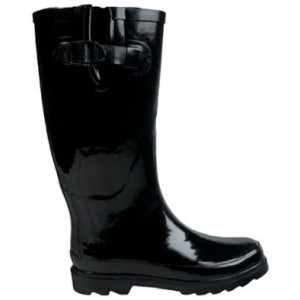 Black Ladies Gumboots Wellies Rainboots