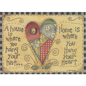 Home is Where You Hang Your Heart Greeting Card by Beth Yarbrough