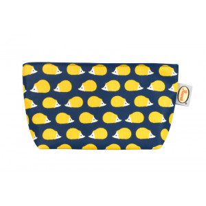 Kissing Hedgehogs Cosmetic Make Up Bag Coated Cotton Canvas