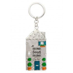 Home Sweet Home Pewter Keyring