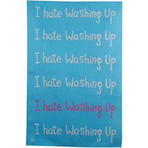 I Hate Washing Up Irish Linen Tea Towel