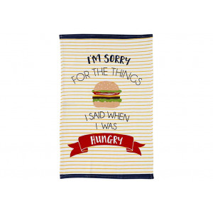 I'm Sorry For The Things I Said When I Was Hungry Novelty Kitchen Tea Towel