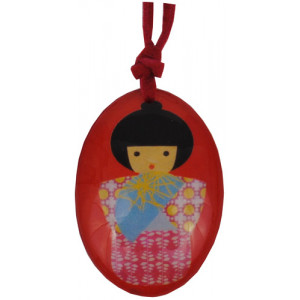 Japanese Kokeshi Doll Resin Pendant
