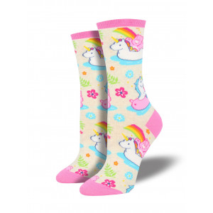 Womens Ladies Fun Novelty Socks Care Bear on Ivory Heather