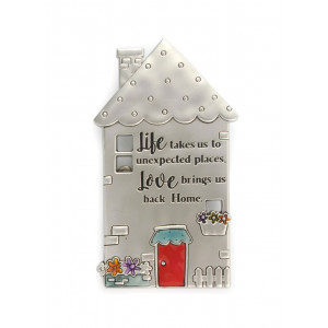 Life Takes Us To Unexpected Places Pewter Fridge Magnet