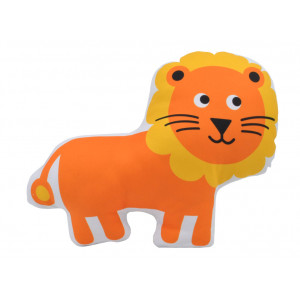 Kids Childrens Lion Soft Stuffed Cushion Orange and Yellow