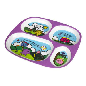 Little Miss Childrens Melamine Divider Plate