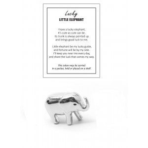 Lucky Little Elephant Pewter Good Luck Token