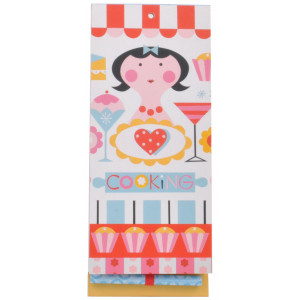 Retro Girl By Ellen G Cooking Cupcakes Magnetic Shopping List Notepad