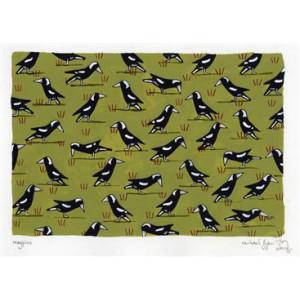 Magpies in Paddock Rachael Flynn Card
