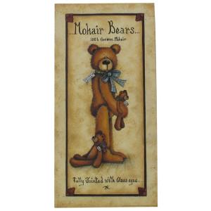 Mohair Bears 100% German Mohair 16 x 8 Print