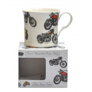 Classic Motorbike Fine Bone China Palace Tea Coffee Mug