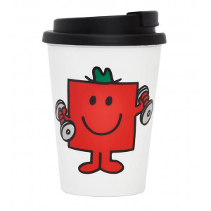 Mr Men Mr Strong Tea Coffee Double Wall Travel Mug