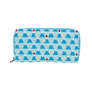 Japanese Mt Fuji Jacquard Pattern Designer Clutch Purse