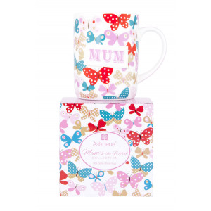 Ashdene Fine Bone China Tea or Coffee Mug Mums The Word Butterfly Design