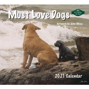 Must Love Dogs John Weiss 2021 Pine Ridge Art Wall Calendar