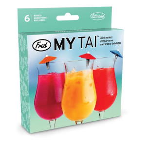 My Tai Cocktail Glass Drink Markers Set of 6 By Fred