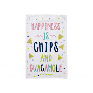 Happiness is Chips and Guacamole Novelty Kitchen Tea Towel