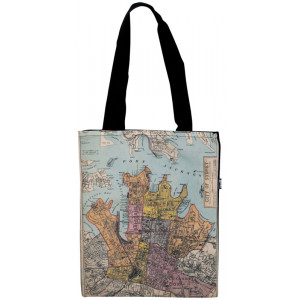 Shopping Carry Bag Old City of Sydney Map Souvenir