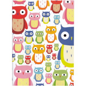 Owls Birds A4 Size Notebook
