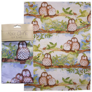 Kitchen Tea Towel 100 % Cotton Wise Owls Alex Clark