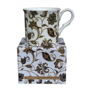 Jacobean Paisley Design Fine Bone China Palace Tea Coffee Cup Mug